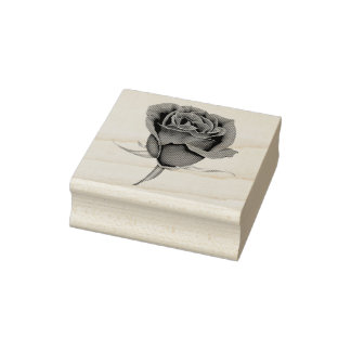 Rose with Stem Rubber Stamp