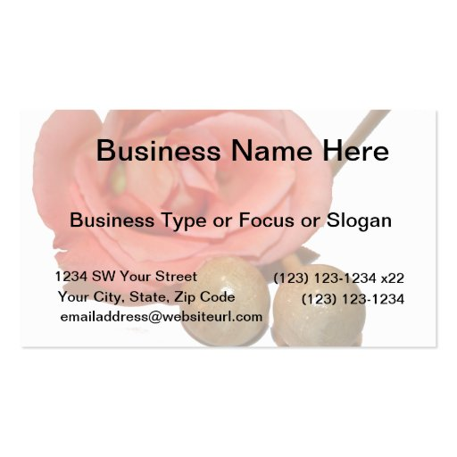 Rose with wooden percussion bell mallets business cards