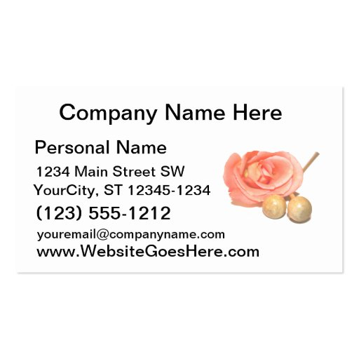 Rose with wooden percussion bell mallets faded cut business cards