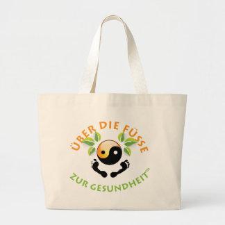 Rose Wohlfühl Oase Baumwolle Einkaufstasche groß1 Jumbo Tote Bag