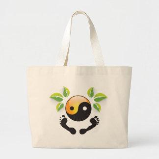 Rose Wohlfühl Oase Baumwolle Einkaufstasche groß2 Large Tote Bag