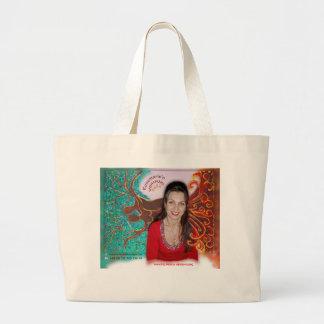 Rose Wohlfühl Oase Baumwolle Einkaufstasche groß3 Large Tote Bag