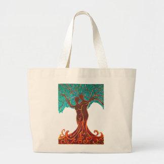 Rose Wohlfühl Oase Baumwolle Einkaufstasche groß4 Large Tote Bag