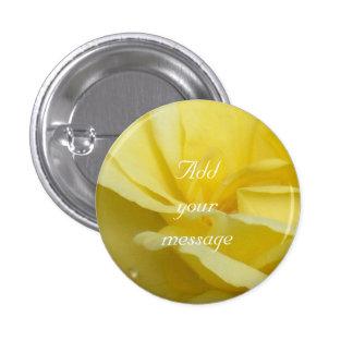 Rose - Yellow 3 Cm Round Badge