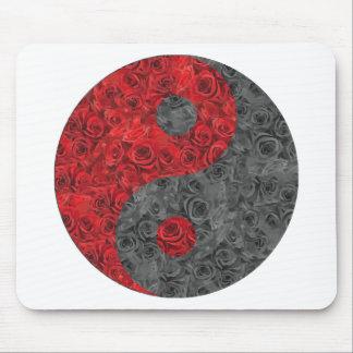 Rose Yin Yang Mouse Pad