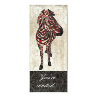 Rose Zebra Ornate Invitation