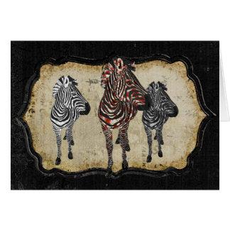 Rose Zebra Shadows Notecard