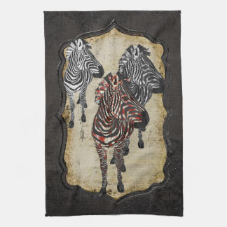 Rose Zebra Shadows Towel