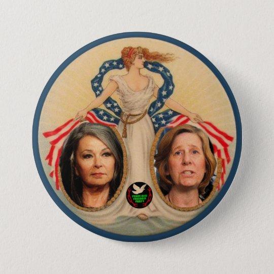 Roseanne Barr / Cindy Sheehan 2012 7.5 Cm Round Badge