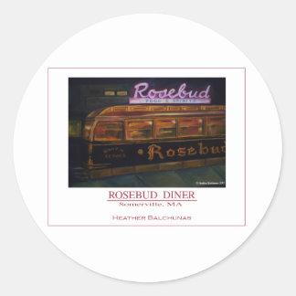 Rosebud Diner Round Sticker
