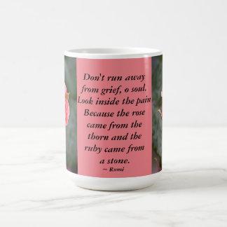 Rosebud...Don't Run Away Basic White Mug