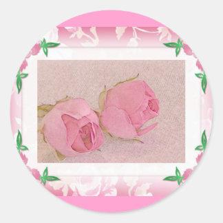 Rosebud Envelope Seals Round Sticker