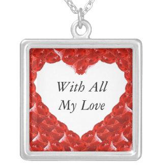 Rosebud Heart Frame Jewelry