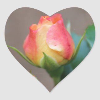 Rosebud Heart Sticker