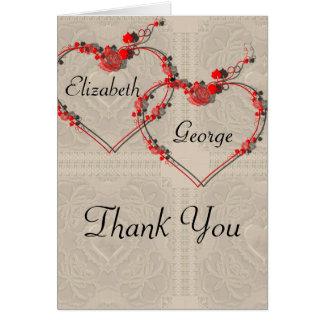 Rosebud Hearts Card