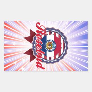 Rosebud, MO Rectangle Sticker