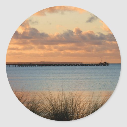 Rosebud Pier Round Stickers