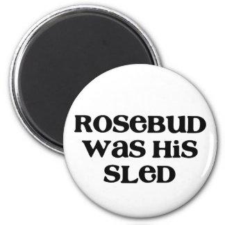 Rosebud Sled 6 Cm Round Magnet