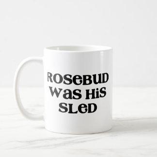 Rosebud Sled Basic White Mug