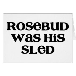 Rosebud Sled Greeting Card