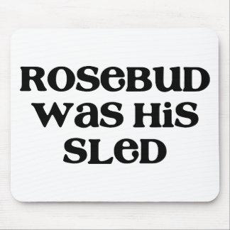 Rosebud Sled Mouse Pad