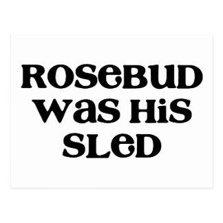 Rosebud Sled Postcard