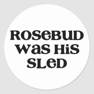 Rosebud Sled Round Sticker