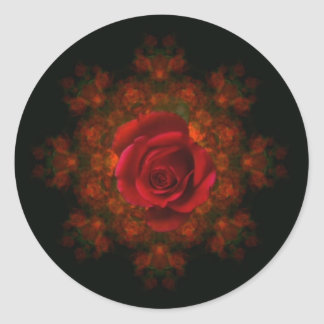 Rosebud Classic Round Sticker