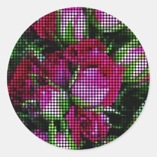 Rosebud tapestry classic round sticker