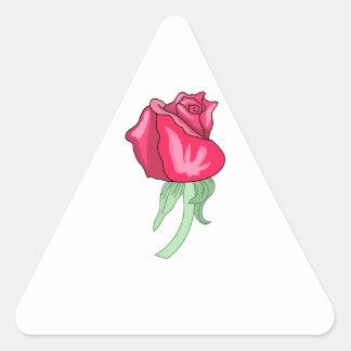 Rosebud Triangle Sticker