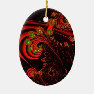 Rosebuds Ceramic Oval Decoration