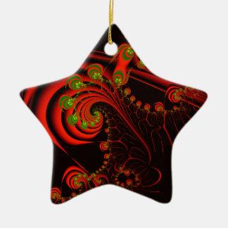Rosebuds Ceramic Star Decoration