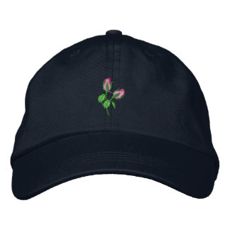 Rosebuds Embroidered Baseball Cap