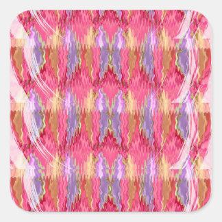 RoseBuds n Petals Decoration Art Square Sticker