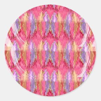 RoseBuds n Petals Decoration Art Round Sticker