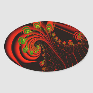 Rosebuds Oval Sticker