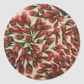 Rosebuds Round Sticker