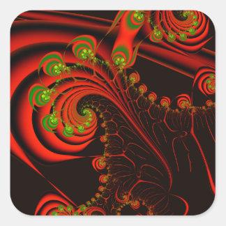 Rosebuds Square Sticker