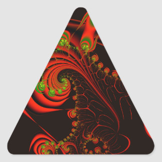 Rosebuds Triangle Sticker
