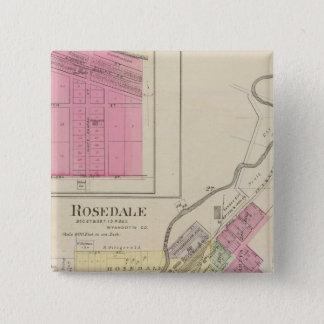Rosedale and Pomeroy, Kansas 15 Cm Square Badge
