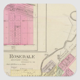Rosedale and Pomeroy, Kansas Square Sticker