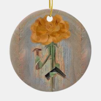 Rosegifts Carpenter Rose Christmas Ornament