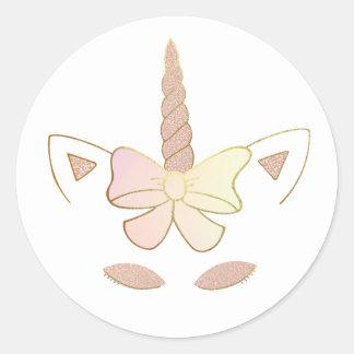 Rosegold Unicorn Sticker