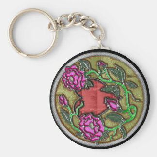 roseheart key chain