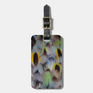 Rosella Feather Design Luggage Tag