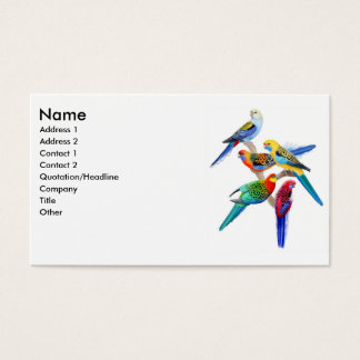 Rosella Parrots Business Card