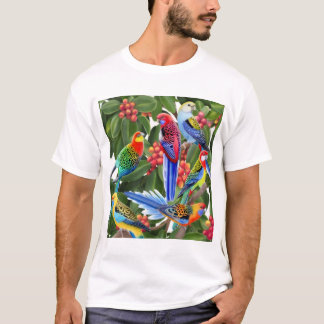 Rosella Parrots in Fig Tree Shirt