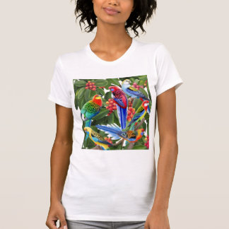 Rosella Parrots in Fig Tree Tank Top
