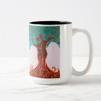 Rosemarie's Wohlfühl Oase 2-Farbe Becher 4 (0,45L) Two-Tone Coffee Mug