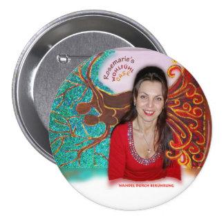 Rosemarie's Wohlfühl Oase Stiftknopf 7.2cm rund3 7.5 Cm Round Badge